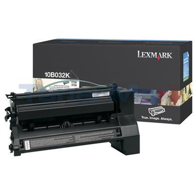 LEXMARK C750 PRINT CART BLACK HY